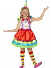 Childs Deluxe Clown Girl Costume